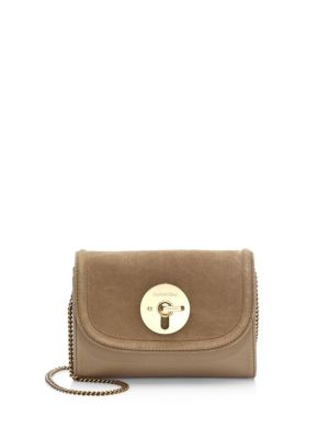 See by Chloe Lois Mini Suede And Leather Crossbody Beige FjqHon