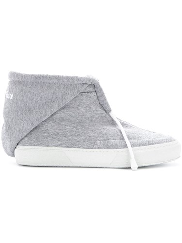 Joshua Sanders Nothing More Sneakers Cotton Calf Leather Rubber Grey cZYq9DNskh