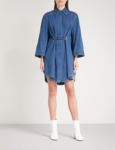 Maison Martin Margiela Denim Shirt Dress Denim Blue WGXR7NzGz