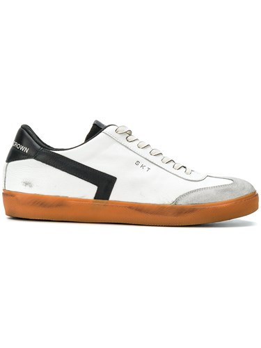 Crown Leather Lace White Up Sneakers Rubber zFvwqFd