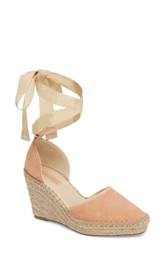 Peach Wraparound Wedge Topshop Williams Espadrille x7qwIt5
