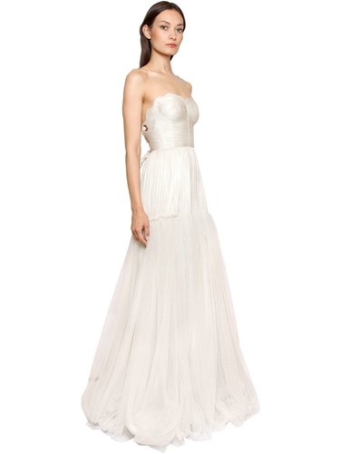 Hohan Gown Lucia Ivory Laminated Silk Maria Tulle a7wq0S