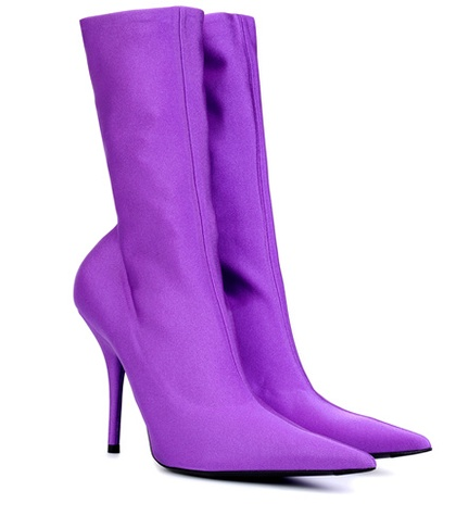 Balenciaga Knife Stretch Jersey Ankle Boots Purple 8ZH9dlGcIn