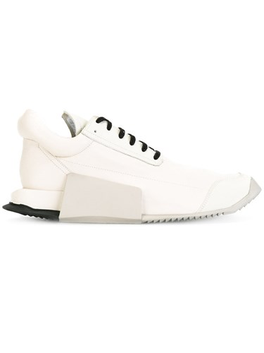 Rick Owens Adidas By Lace Up Sneakers White 9kaLxDyWQo