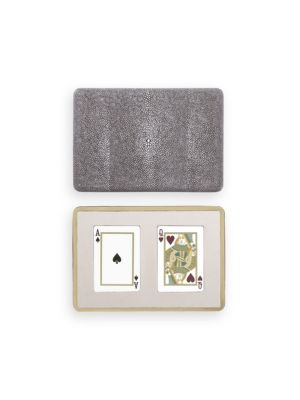 AERIN Embossed Shagreen Playing Card Case No Color iUdlDeBln