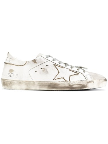 Golden Goose Deluxe Brand Superstar Sneakers Men Cotton Leather Rubber 41 White tMu2Ei