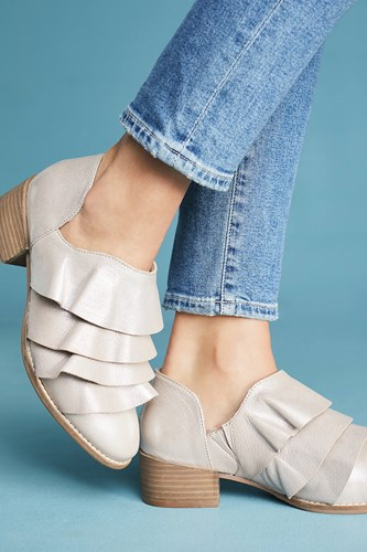 Anthropologie Seychelles Open Mind Ruffle Booties Copper qIhxAsQyW