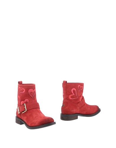 Twin-Set Simona Barbieri Ankle Boots Red EH0Bll5