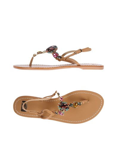 MALLAS TSAKIRIS Toe Camel Sandals EXÉ Strap by EqHxc4