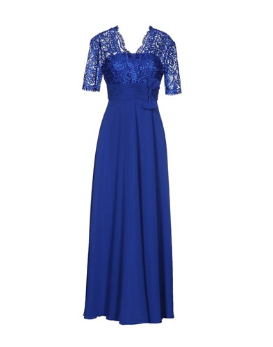 Musani Couture Long Dresses Bright Blue DtJgYE