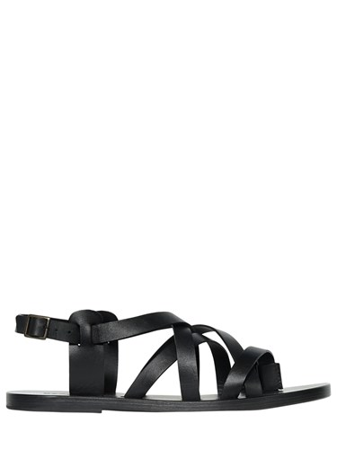 DSquared 10Mm Leather Gladiator Sandals Black DnVHQWhbZF