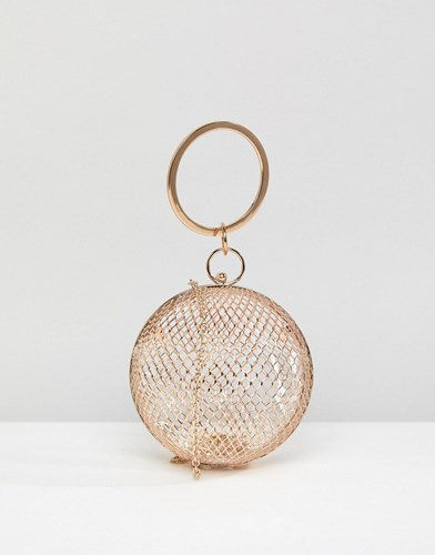 Clutch Sphere Asos Gold Cage Bag SPqppgw