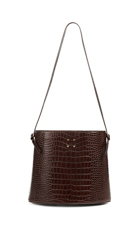 Bag Trademark Croc Black Sybil Brown Faux F11ZqxT0