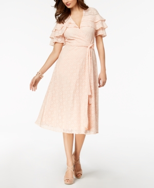 Med Dress Pink Midi Wrap Lace Taylor nqAzII