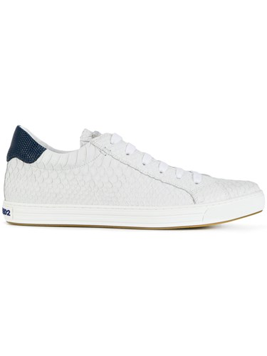 Dsquared2 DSquared Monica Sneakers Santa Rubber Leather White 4P18n4Wzr