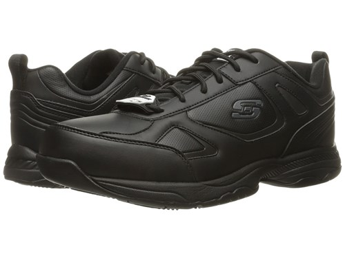 Synthetic Dighton Skechers Leather Black Shoes Men's qEw678w