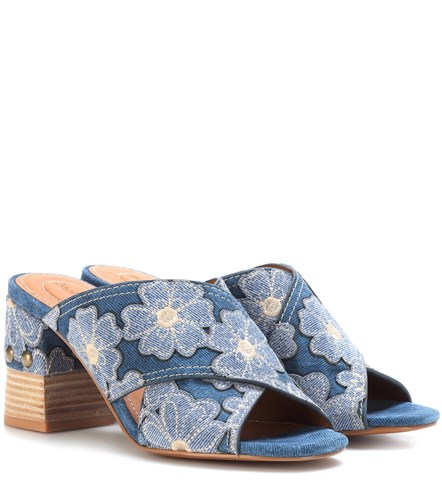 Blue Sandals Denim See by Chloe n8qAx0xX
