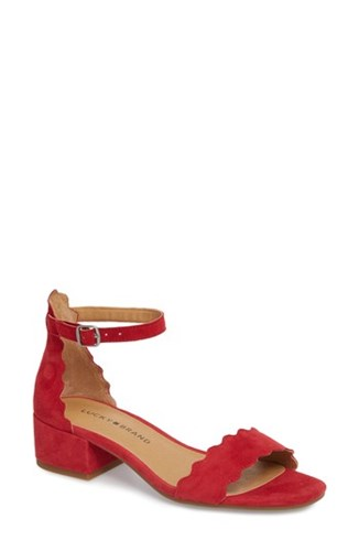 Norreys Sandal Suede Red 'S Brand Lucky fRvF77