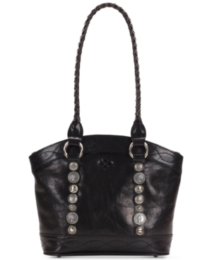 Patricia Nash Studded Hardware Zorita Small Satchel Black GHV0GtWz