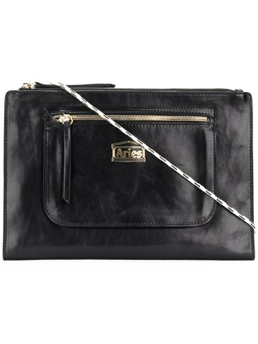 Aries Logo Patch Clutch Black MYUKP