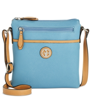 Giani Bernini Saffiano Crossbody Created For Macy's Light Chambray fVBqbt9HRH