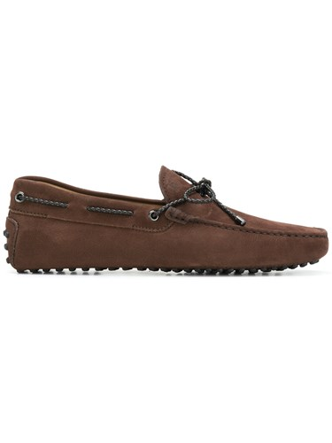 Tod's Gommino Driving Shoes Leather Suede Rubber Brown tRubZgI