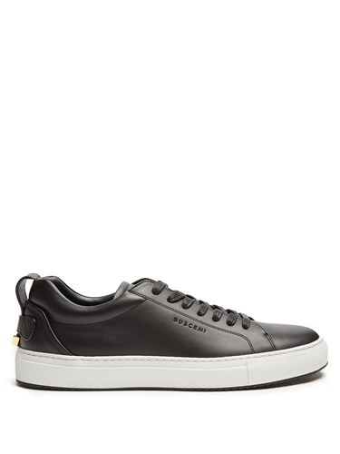 Buscemi Lyndon Low Top Leather Trainers Black 8mOOm1a8i