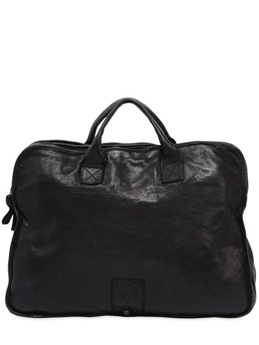 Campomaggi Vintage Effect Leather Briefcase Black EjkzeaMpF
