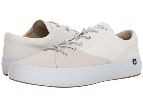 Sperry Haven Lace Up Stone Light Grey Shoes White T8x2cMeftg