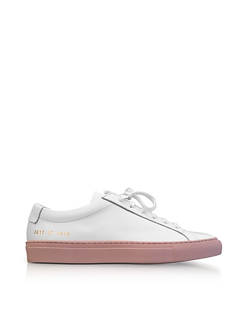 Low Rubber Top Common Sneakers Achilles Leather Sole W Men's Blush White Projects vwIXqIxSf