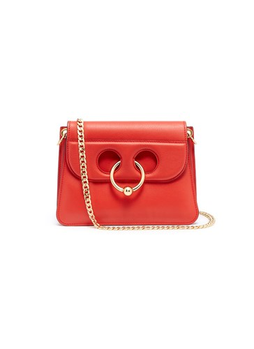 Crossbody 'Pierce' Anderson Leather Red Ring W Bag Barbell J Mini cpqg5TAA