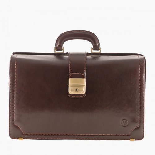 Maxwell Scott Bags Brown Lawyers Leather Briefcase usQMf