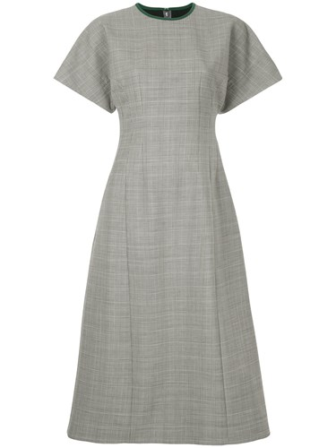 Le Flare Fit Dress And Checked Grey Bleu Ciel gOwxqgTH