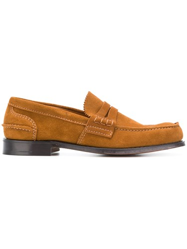 Church's Pembrey Loafers Suede Leather Brown Gef4S