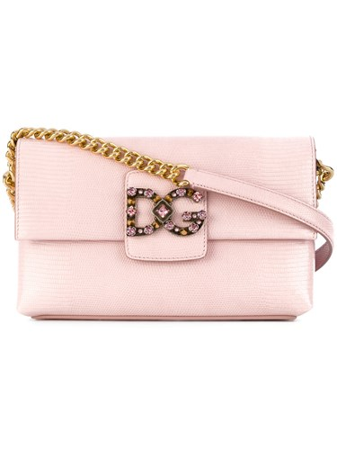Pink Leather Gabbana Dg Purple Shoulder Bag amp; Millennials Dolce Calf 8w5q06nx