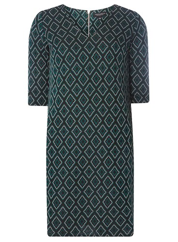 Dorothy Perkins Green Jacquard Shift Dress ZVAvG
