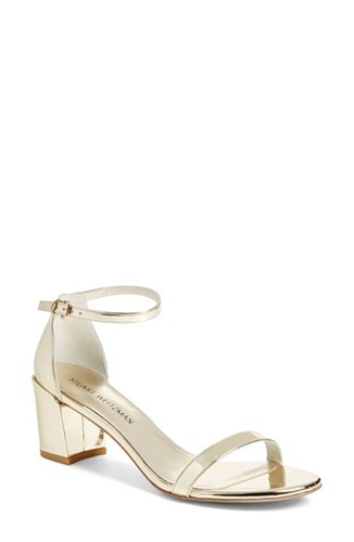 Stuart 'Nearlynude Weitzman Strap Simple' Ankle Sandal Women's BBHwZ1q