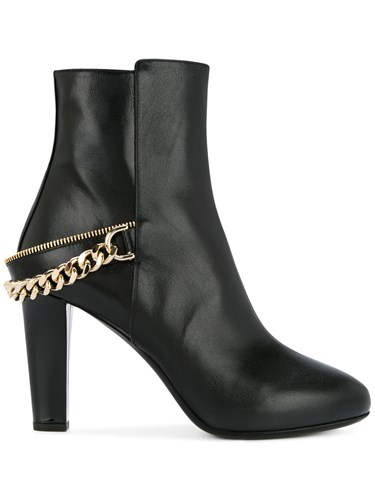 Ankle Detail Lanvin Black Boots Chain TxqfA6