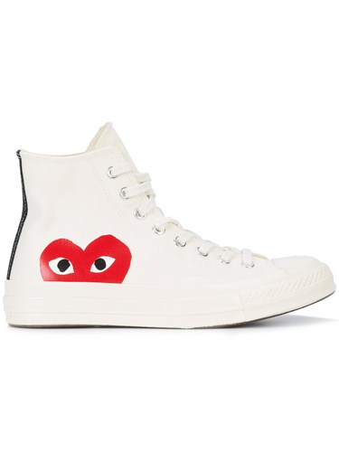 Cotton Converse Comme White Taylor Garcons Unisex des Chuck Sneakers Play HRO8q