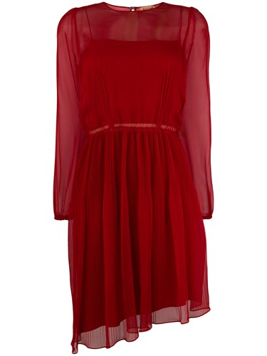 N°21 No21 Asymmetric Pleated Dress Red X5HNsFojW2