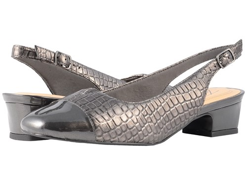 Trotters Inch Heel Croco 2 Dea Pewter 1 Patent Shoes YYxaFqw