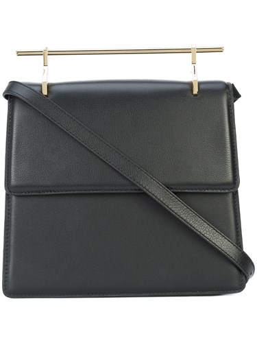 Shoulder M2malletier Black Leather Bag Top Bar qx4CzZ