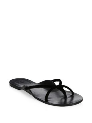 Black Row Suede The Hawaii Sandals T6W0q