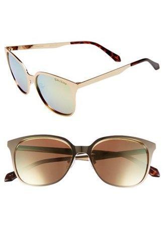 Landon 54Mm Polarized Sunglasses Gold Gold Gold Gold