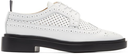 Brogues Thom Perforated White Browne Longwing Classic vqrnAqXw