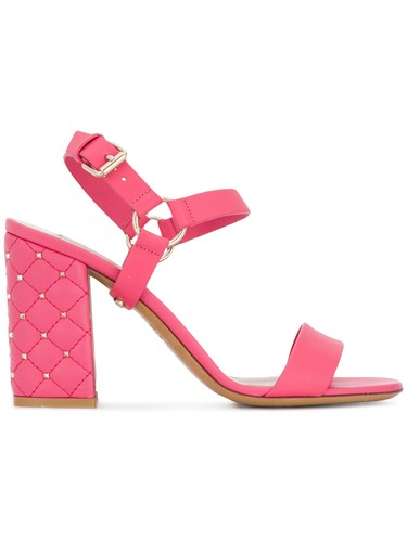 Valentino Rockstud Sandals Pink And Purple lmb9Ar5Zy