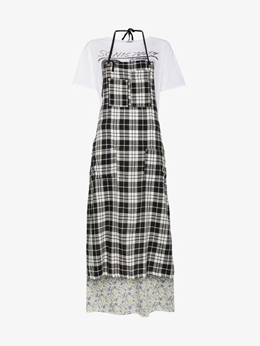 R 13 R13 Apron T Shirt Dress White GKtlH