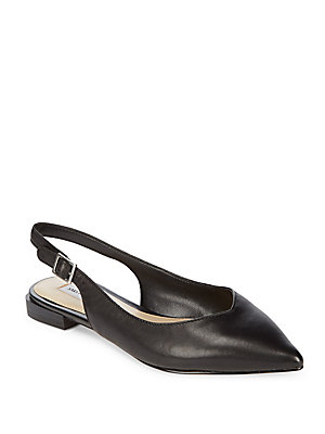 Slingbacks Black Fifth Esmond Avenue Saks Leather zwIFqSHXH