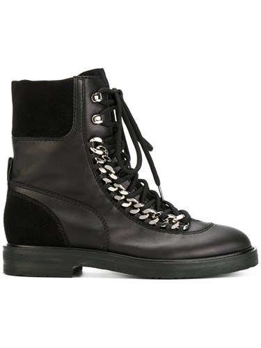 Trimmed Women Rubber Leather Rock Black Chain Nappa 37 Calf Calf City Suede Boots Leather Casadei xqX7w5zA