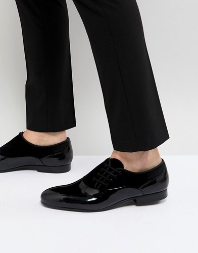 House Of Hounds Side Lace Patent Oxford Shoes Black ZuYI6